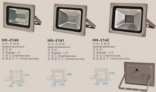 选择品质好的led投光灯外壳灯饰配件需要注意几点